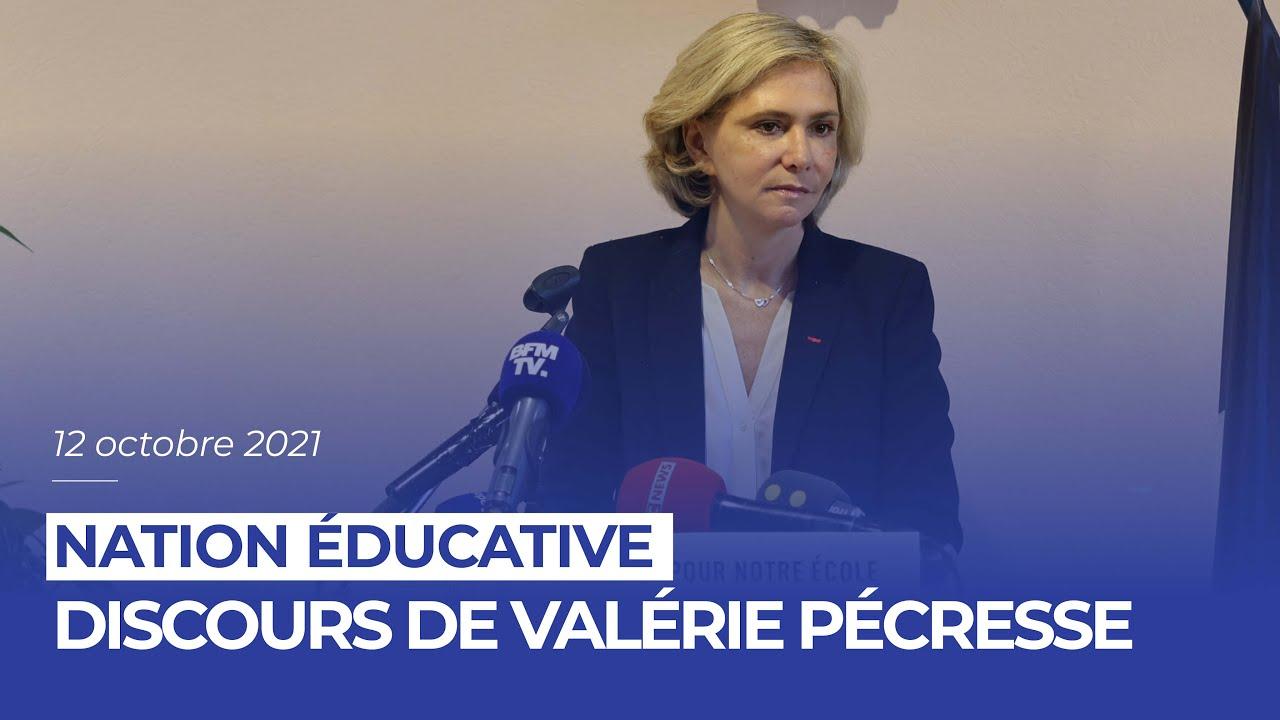 Discours de Valérie Pécresse sur la «Nation éducative»
