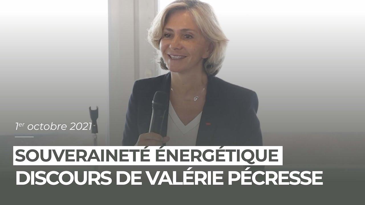 Valérie Pécresse a présenté ses propositions pour une souveraineté énergétique qui allie énergie et pouvoir d'achat à Cherbourg.